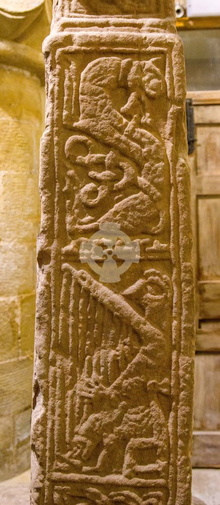St serfs stone carving, perthhire