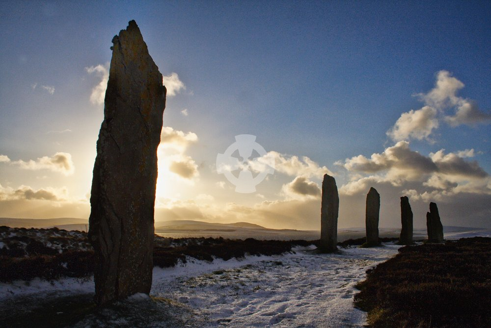 Ring of Brodgar, Orkney, in winter
