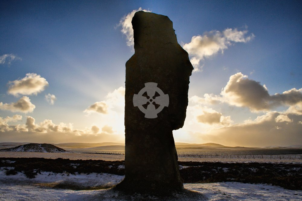 Standing stone at Ring of Brodgar, Orkney