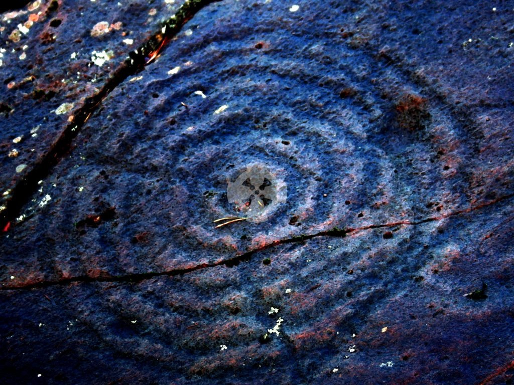 Spiral carving illustrating an energetic understanding