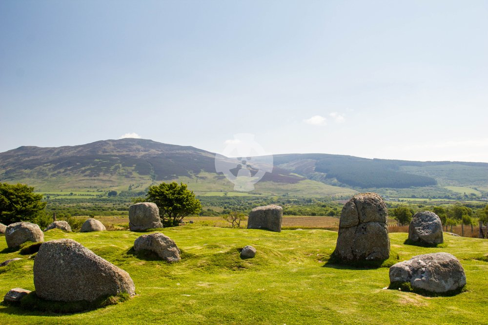 Image showing stone circle no.5 at Machrie Moor, isle of Arran, Scotland