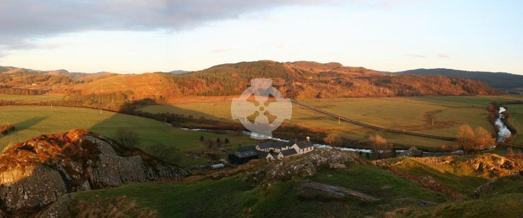view of kilmartin glen from dunadd