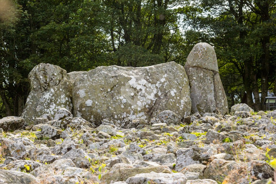 image showing the large recumbent stone at Loanhead of Daviot stone circle