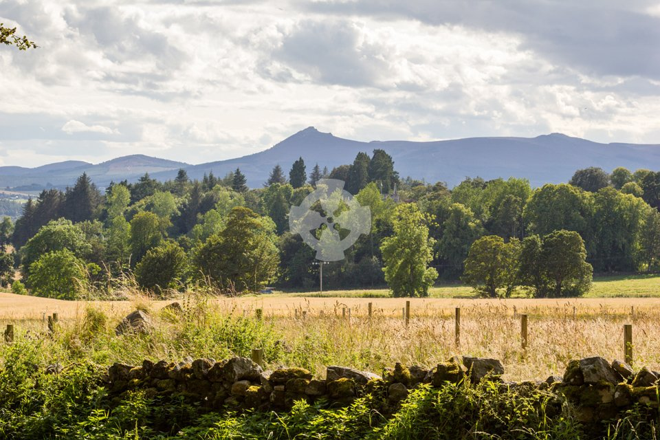 Image showing the view southwest to Bennachie from Loanhead of Daviot stone circle
